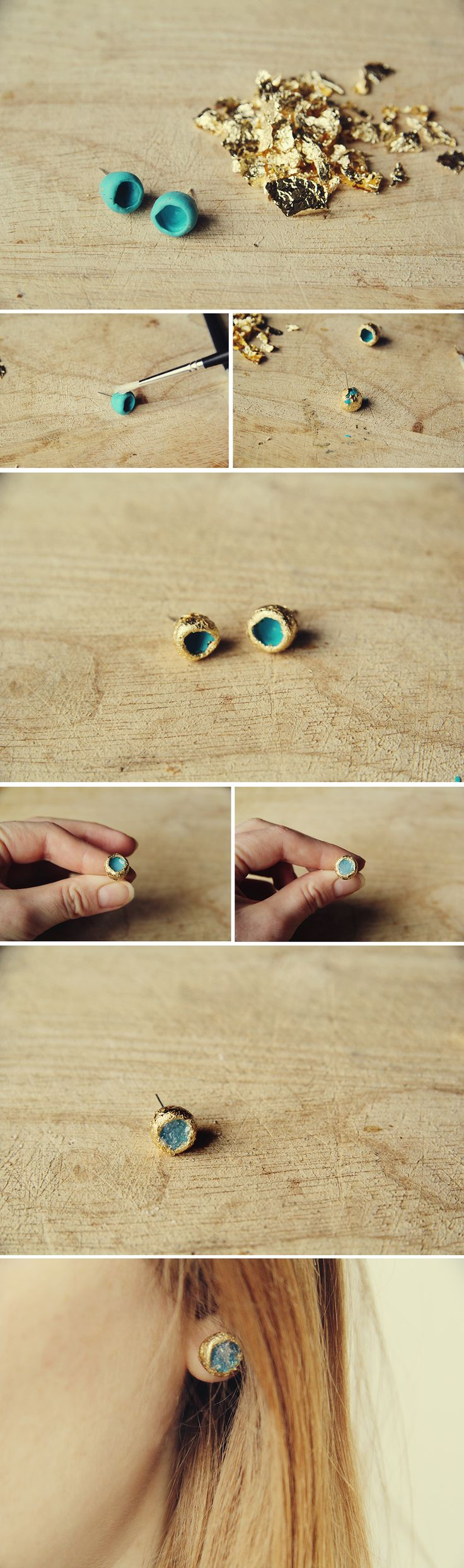 best 25+ diy glitter earrings ideas on pinterest | diy druzy