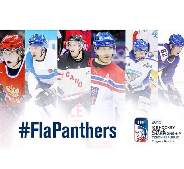 Who run the world? Panthers!  Six Florida Panthers are participating in the 2015 IIHF World Championship in Prague/Ostrava, Czech Republic. The Panthers players that are representing their countries are: Aleksander Barkov, Aaron Ekblad, Jaromir Jagr, Jussi Jokinen, Tomas Kopecky and Dmitry Kulikov.  Best of luck!