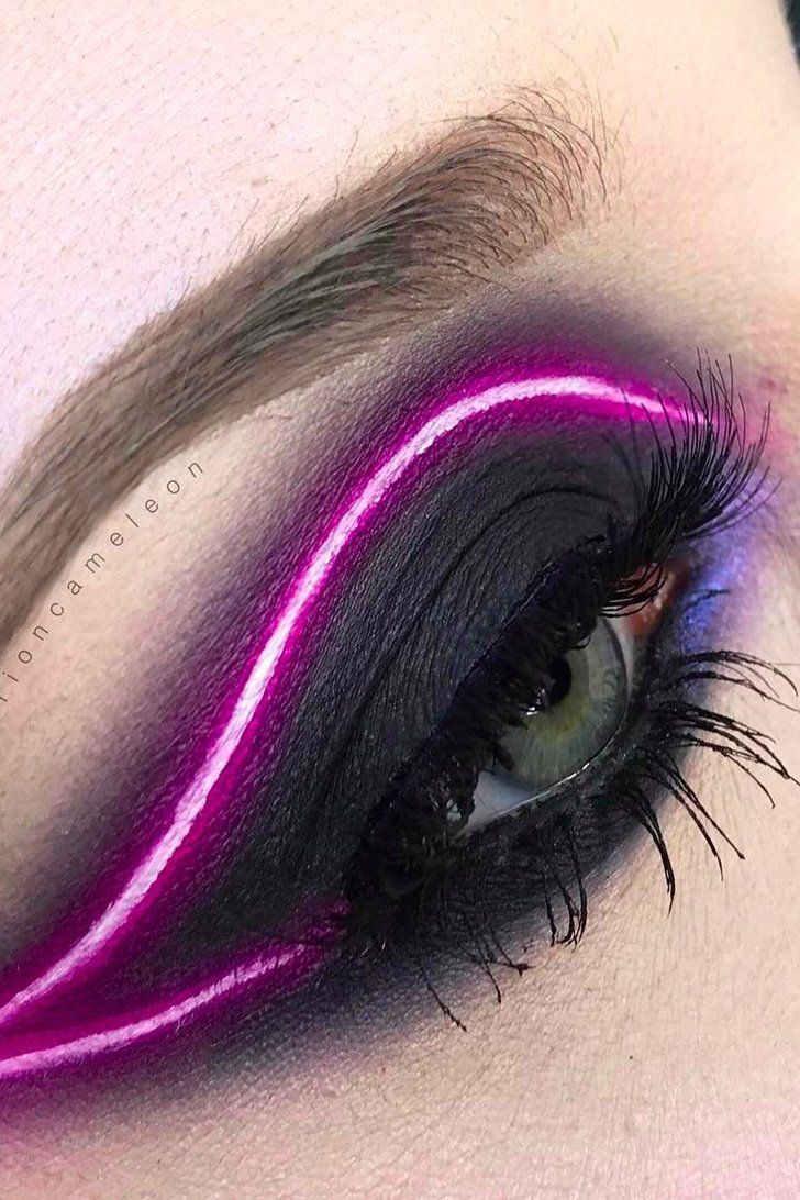 You'll Light Up the Night When You Try This Neon Eyeliner Trend From Instagram