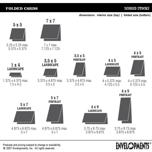 18 Best Card Sizes And Envelope Sizes Images On Pinterest
