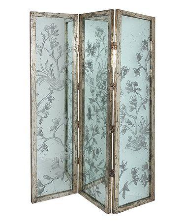 Wood Three-Panel Lena Floral Screen #zulily #zulilyfinds
