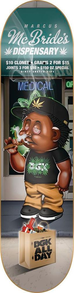 "DGK Skateboard Deck POT HEADS MCBRIDE 8.1"" #DGK"