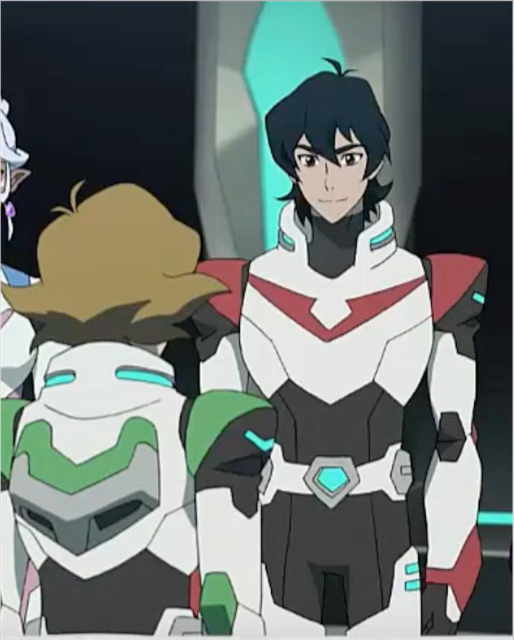 Keith smiles at Pidge as he welcomes her back in the team from Voltron Legendary Defender