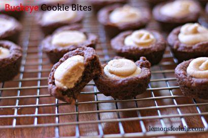 Buckeye Cookie BitesButterscotch Marshmallows, Sugar Cookies, Cookies Cups, Brownies Bites, Buckeyes Brownies, Bites Wwwlemonsforlulucom, Cookies Bites, Peanut Butter, Buckeyes Cookies