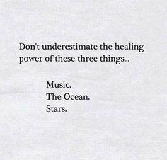 music. the ocean. stars.