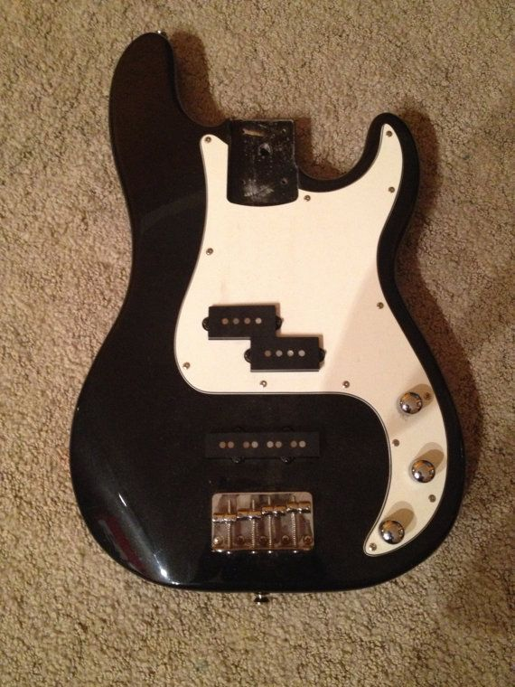1962 Fender P bass body Loaded by OldNewAndRad on Etsy