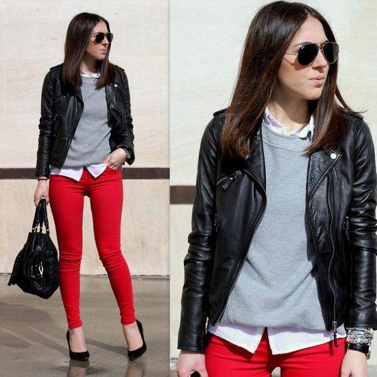 Mu00e1s de 25 ideas increu00edbles sobre Pantalones rojos en Pinterest | Traje para pantalones rojos ...