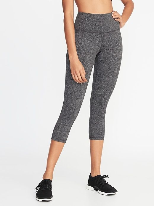 662619dd8c030c High-Rise Elevate Soft-Brushed Compression Crops for Women in 2019 |  Birthday gift ideas | Leggings are not pants, Workout pants, Old navy