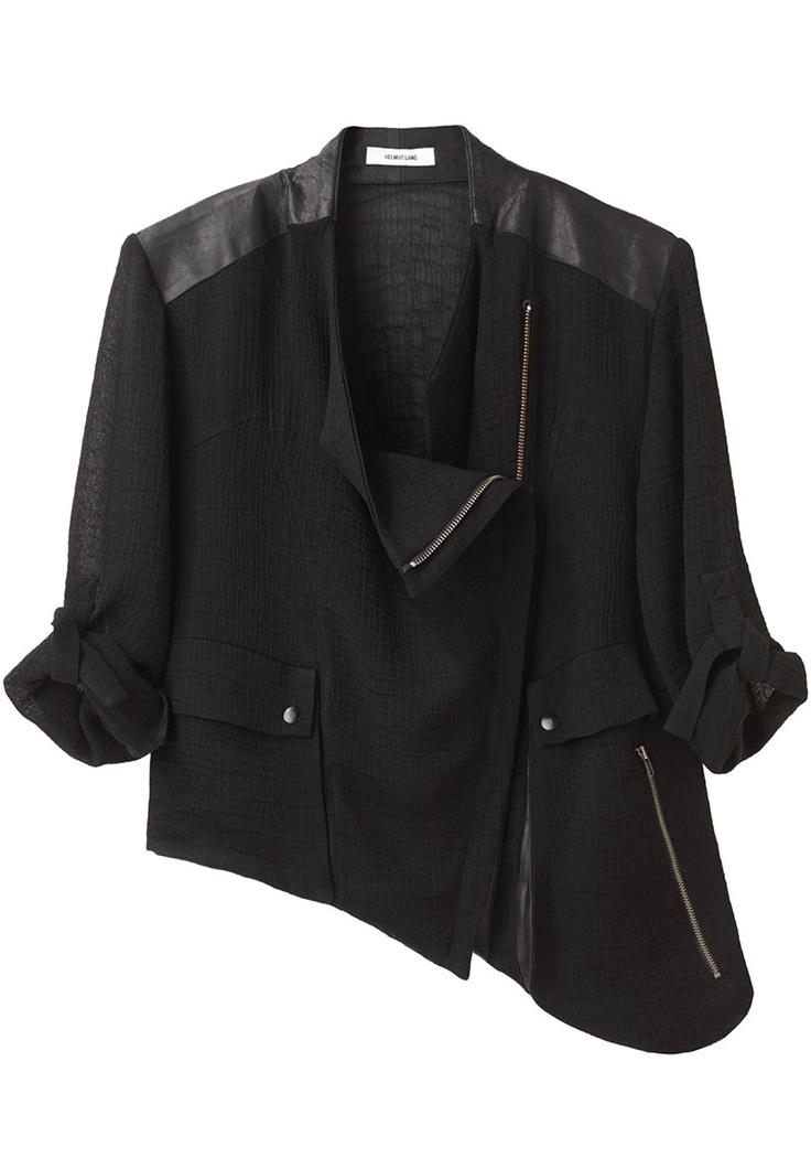 Helmut Lang, Asymmetric Zip Jacket (architectural fashion)