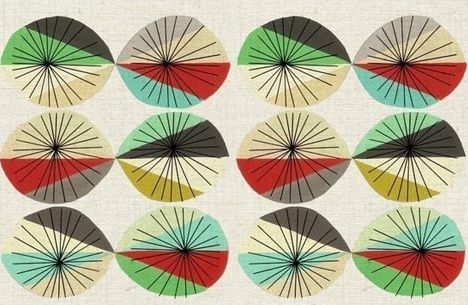 Great Mid-Century Modern style pattern by inaluxe. This design would make a great needlepunch rug!!!
