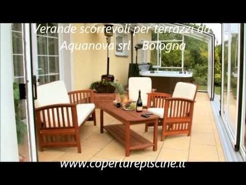 www.coperturepiscine.it Copertura terrazzo completamente apribile con le finestre scorrevoli - YouTube