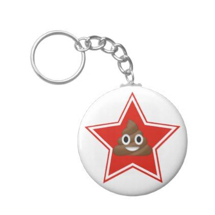 Star Emoji-Poo Keychain - accessories accessory gift idea stylish unique custom