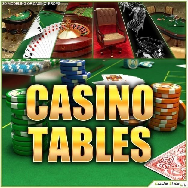 Casino Tables Roulette Poker Blackjack By Codethislab High Poly 3d Model Not Suitable For Virtual Reality Vr Augmented R Poker Supplies Casino Table Casino