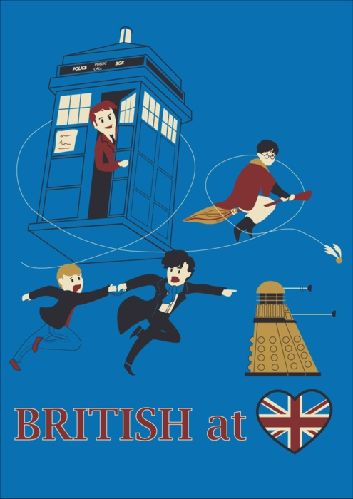 British at <3    Personal additions would include Robin Hood, King Arthur, Merlin, Monty Python, and Mr. Humphries - extra kudos for knowing that last one!!  =)