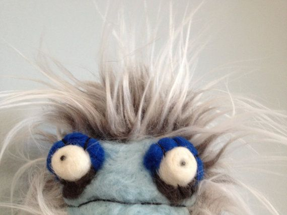 Yeti Plush Needle felted and Fabric Soft Sculpture by uglyclothes, $35.00