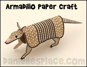 Nine-banded Armadillo Paper Craft from www.daniellesplace.com