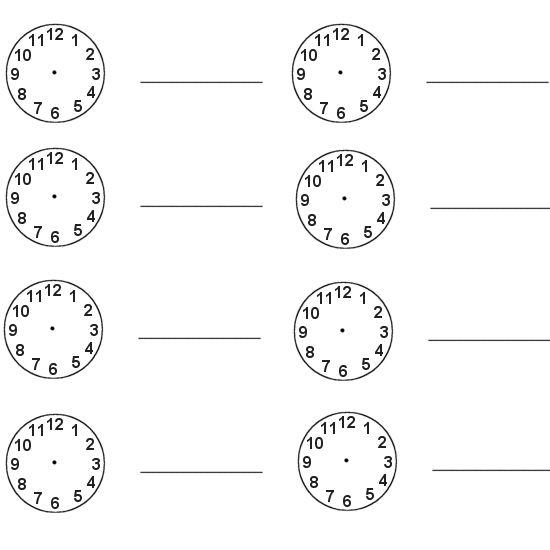 Clock activity | The Apple of my Eye | Blank clock faces ...