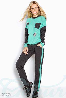 Gepur | Спортивный костюм аппликация арт. 20235 Цена от производителя, достоверные описание, отзывы, фото , цвет: , цвет: пудрово-серый