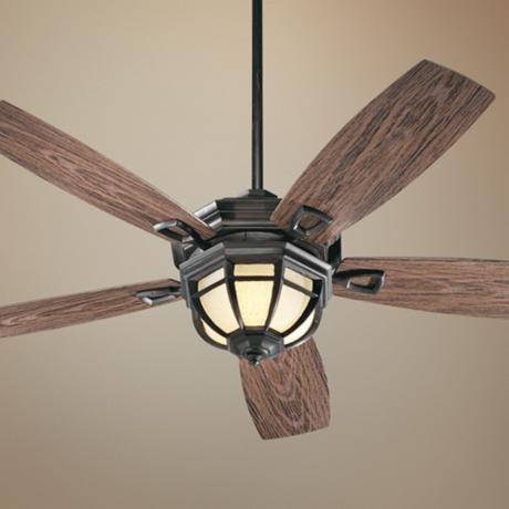 "52"" Quorum Belvedere Bronze Patio Ceiling Fan with Light Kit - #U9995 | LampsPlus.com"
