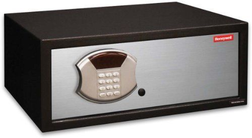 Honeywell 5106 1.10 Cubic Feet Steel Security Safe by Honeywell. $154.98. From the Manufacturer                This Honeywell 5106 steel security safe features a 1.10 cubic feet storage capacity, programmable digital entry, motorized door lock, brushed aluminum door cover, carpeted floor, LED readout, concealed hinges, recessed door and rear panel to prevent prying which gives you additional protection against theft. The Honeywell safe product line provides sa...