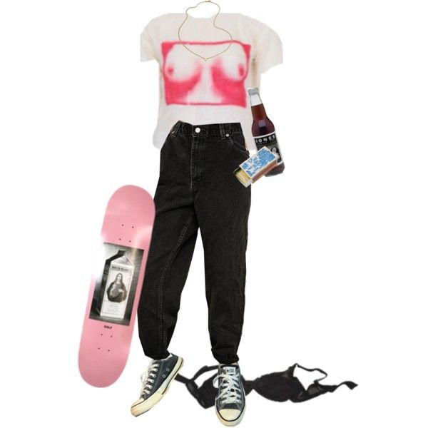 bone apple tīt by kampow on Polyvore featuring Urban Renewal, Agent Provocateur, Converse, Jennifer Zeuner, Shandell's, indie, Punk, grunge, art and aesthetic