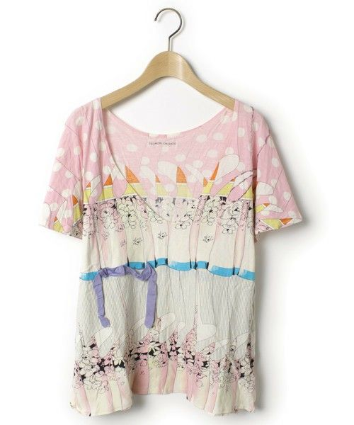 TSUMORI CHISATO(ツモリチサト)「半袖カットソー(Tシャツ/カットソー)」|ピンク