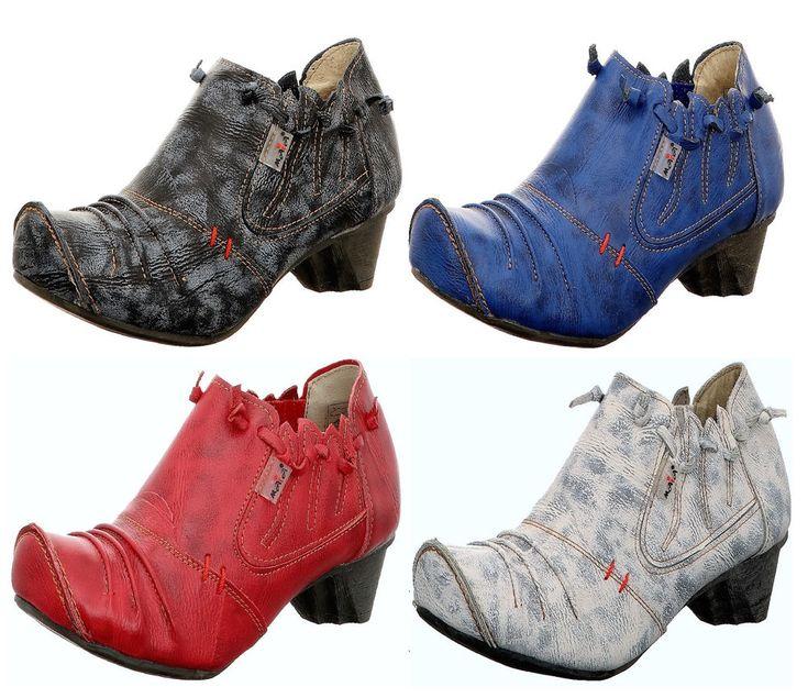 Leder Damen Stiefeletten Damenschuhe Boots Neu 36 bis 42 TMA 8668  | eBay