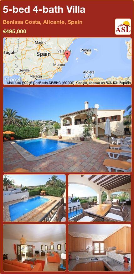 5-bed 4-bath Villa in Benissa Costa, Alicante, Spain ►€495,000 #PropertyForSaleInSpain