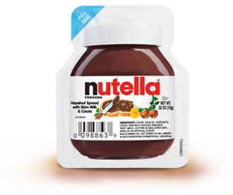 Single serving packets as favors - put Talia's personal NUTELLA label on each (one Dysert family had made for her)