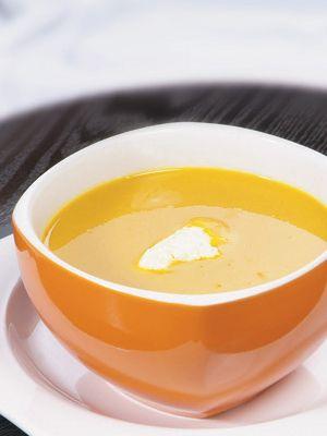 Sopa-creme de abóbora e gengibre