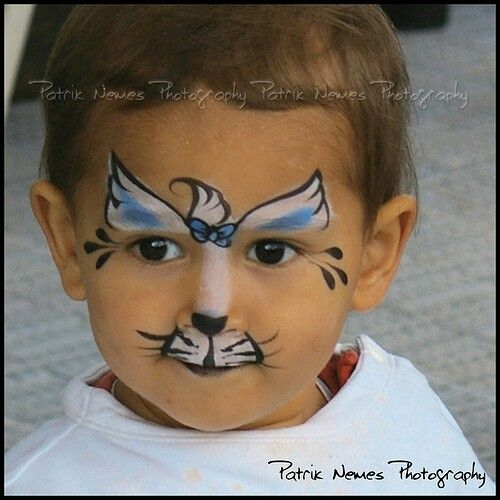 Face painting little cat