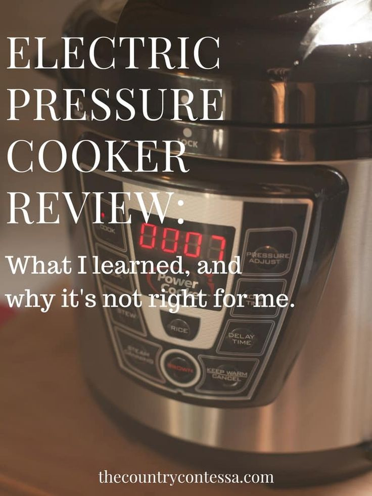 An honest electric pressure cooker review with the good and bad parts of these popular devices. Here's my truth about what I liked (but mostly didn't). via @contessa_cooks