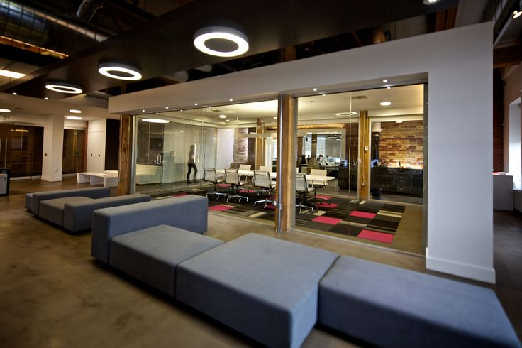 Modern High Tech Open Concept Office Interior Design