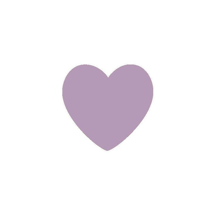 Light Purple Hearts Vinyl Wall Decals (Set of 36)