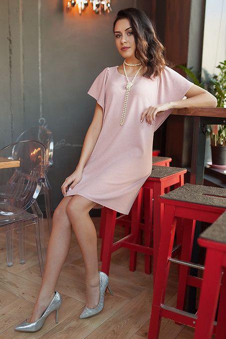 852a31a9bda2 Пудровое люрексовое платье JANET с рукавами-воланами Garne 3031754, купить  по цене 579 грн