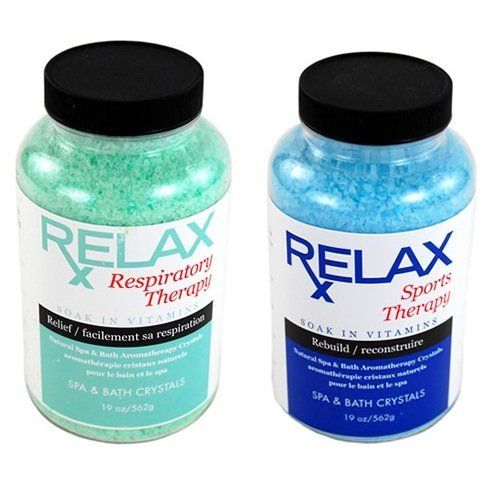 Respiratory & Sports Therapy Scented Salts, Minerals & Vitamins -19 Oz Bottles- Soak Aches & Soreness in Baths, Showers & Hottubs by Relax Spa & Bath. $26.95. Save 13%!