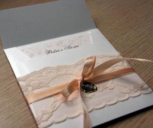 Dantelli Düğün Davetiyeleri
