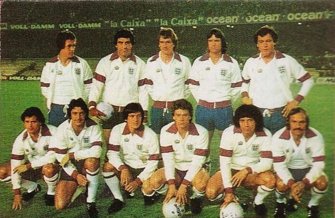 England team group in 1980.
