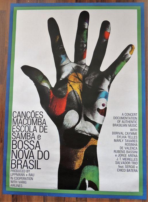 "Iconic  Günther Kieser ""Bossa Nova"" Concert Poster Germany 1966"