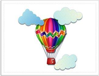 Uçan Balon Kendin Tasarla - Davetiye