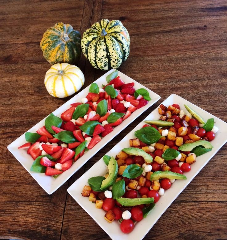 THE FOREST FEAST - Butternut Squash Caprese and Strawberry Caprese - Sep. 30, 2016 -  Normally on Friday we discuss our weekend plans over dinner.  Today we are changing it up as Mommy and I are having lunch and dinner at Grandma's.  So we discussed weekend plans at breakfast.  It is Mommy's turn t...