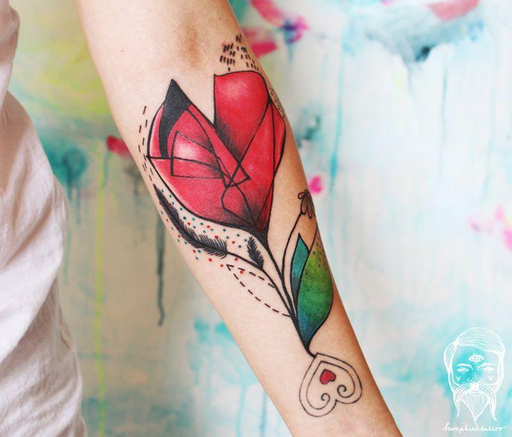 Abstract Flowers Tattoo by Bumpkin Tattoo | Tattoo No. 13189