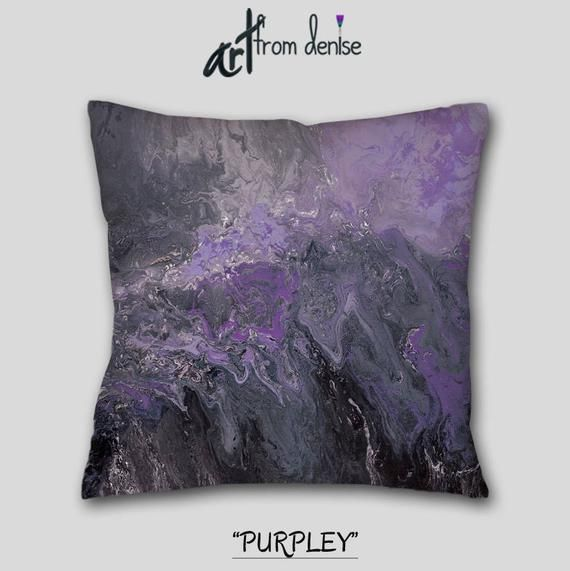 Gray Black And Purple Throw Pillows For Bed Decor Accent Decorative Couch Pillows Set Sofa Cushion Covers Or Outdoor Pillows Purple Throw Pillows Throw Pillows Bed Pillow Set