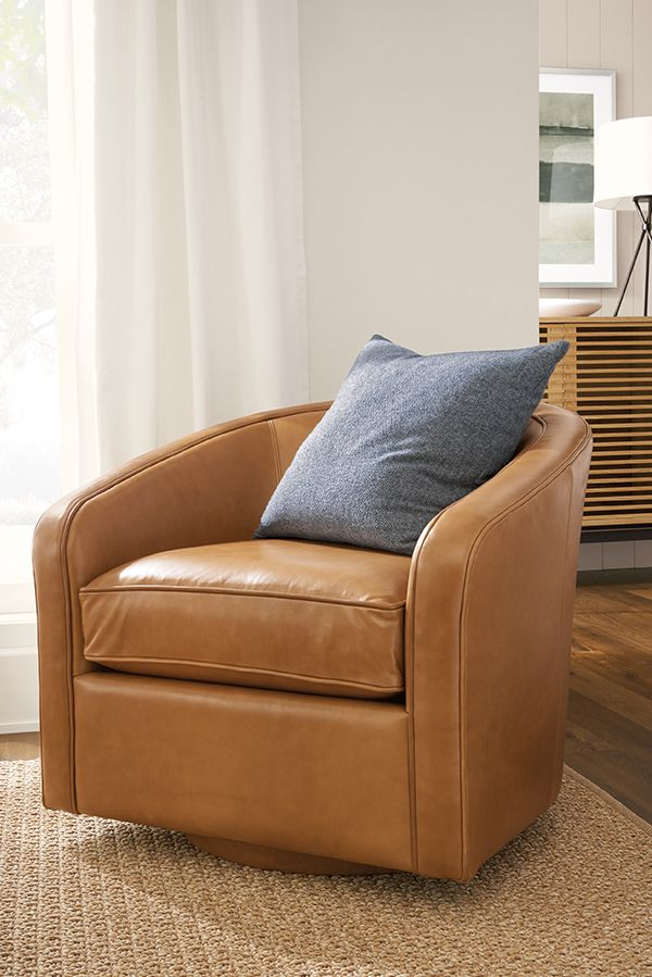 Amos Leather Swivel Chair Modern Living Room Furniture Room Board In 2021 Leather Swivel Chair Modern Furniture Living Room Modern Swivel Chair