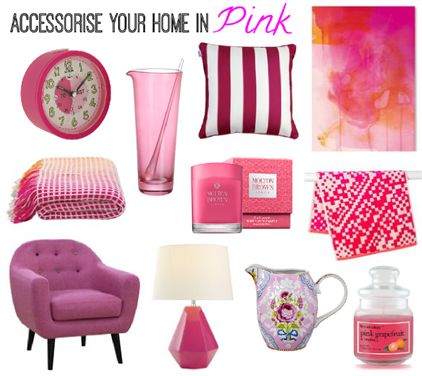 Accessorise Your Home in Pink with Molton Brown, Rouge Living, Kas, Indosoul, Americanflat, John Lewis, PiP Studio, Zanui, Lorus and Baylis & Harding.