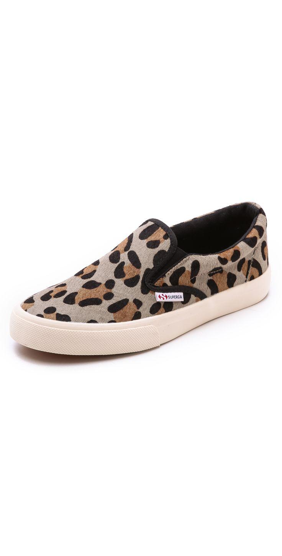 Superga Leopard Haircalf Slip On Sneakers | SHOPBOP