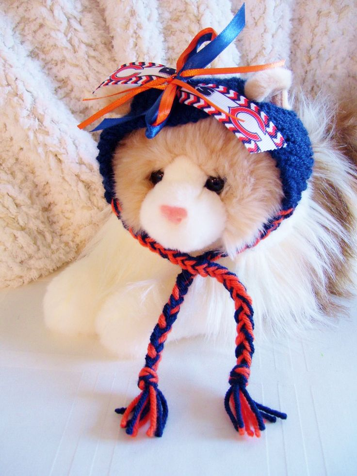 Chicago BEARS Football Fans!! Handmade Cat Hat by ZZsTeamTime on Etsy