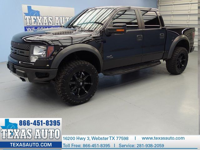 Texas Auto 2012 Ford F 150 Svt Raptor 411 Hp 4x4 Roof Nav Rear Cam