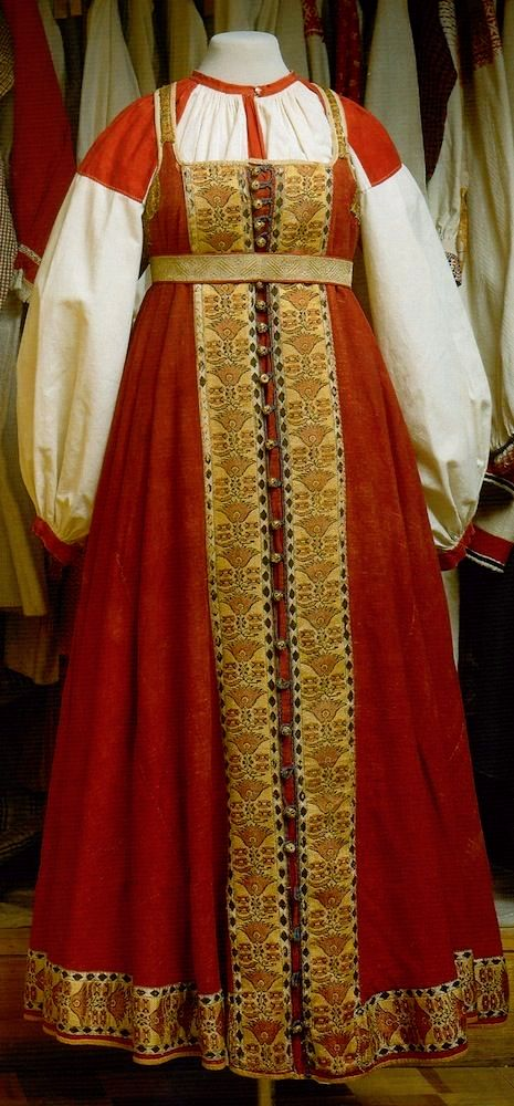 Russian national costume, sarafan.