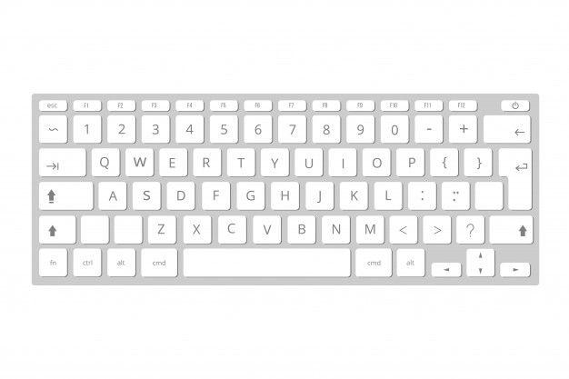 Vector Blanco Teclado De Computadora Movil Teclado Vector Premium Computer Keyboard Computer Keypad Keyboard